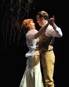 Lauren Grace and Mark Anderson Phillips in Miss Julie. Photo by David Allen
