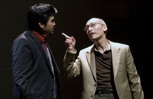 Pun Bandhu and Francis Jue in Yellow Face. Photo by Mark Kitaoka