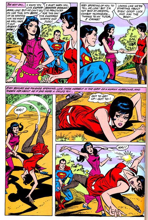Superman just digs watching chicks fight.