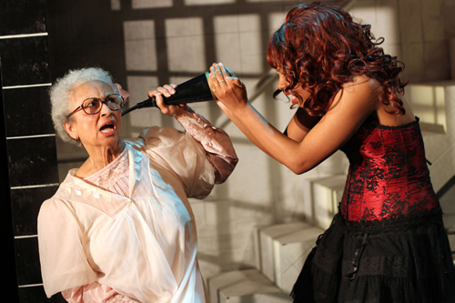 Marjorie Crump-Shears and Felicia Benefield in Krispy Kritters in the Scarlett Night. Photo by Rob Melrose.