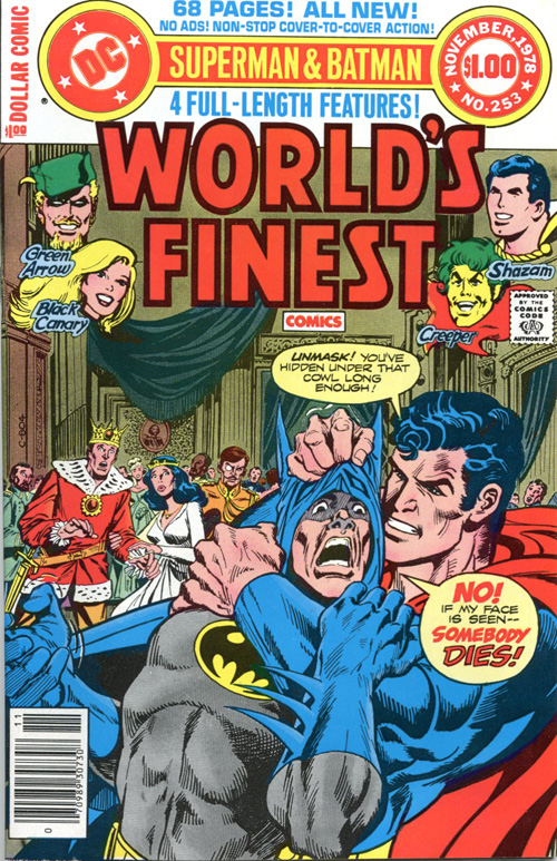 I was always sad that the art inside was never as cool as Jim Aparo's covers.