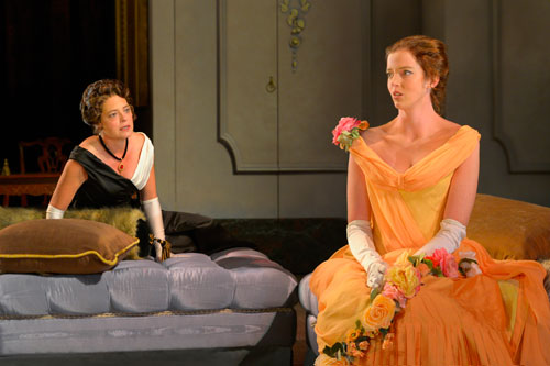 Stacy Ross and Emily Kitchens in Lady Windermere's Fan. Photo by Kevin Berne.