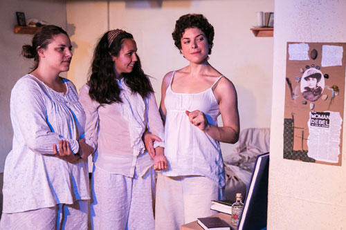 Abigail Edber, Arisa Bega, and Carlye Pollack in What Every Girl Should Know. Photo by Cheshire Isaacs.