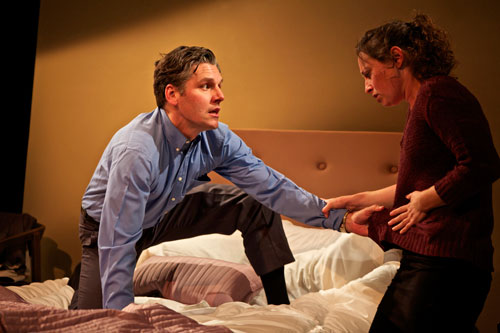 Tim Redmond and Danielle Levin in strangers, babies. Photo by Pak Han.