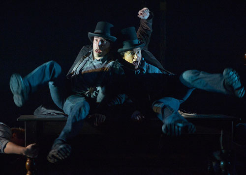 Khris Lewin and Rami Margron in Jacob Marley's Christmas Carol. Photo by Kevin Berne.