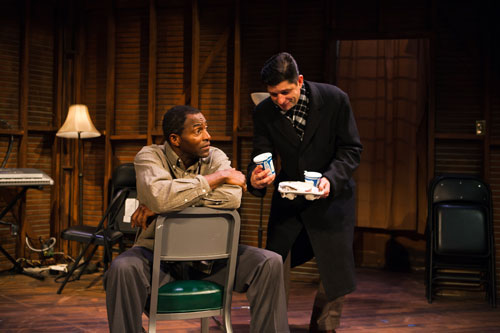 Carl Lumbly and Gabriel Marin in Storefront Church. Photo by Jessica Palopoli.