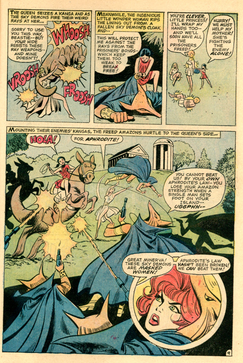 And Hippolyta straight-up lifts up a kanga and uses it as a shield. Not bad, mama.