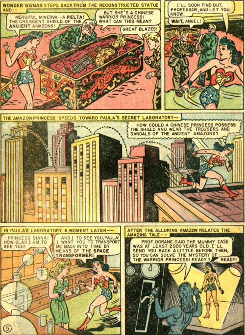 Art by the very first Wonder Woman artist, H.G. Peter.