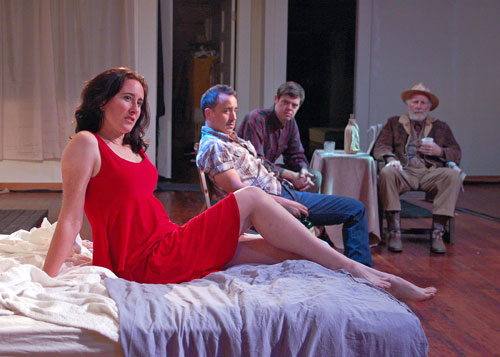 Jeanette Harrison, Matt Lai, Danny Jones, and Charles Dean in Fool for Love. Photo by Benjamin Privitt.