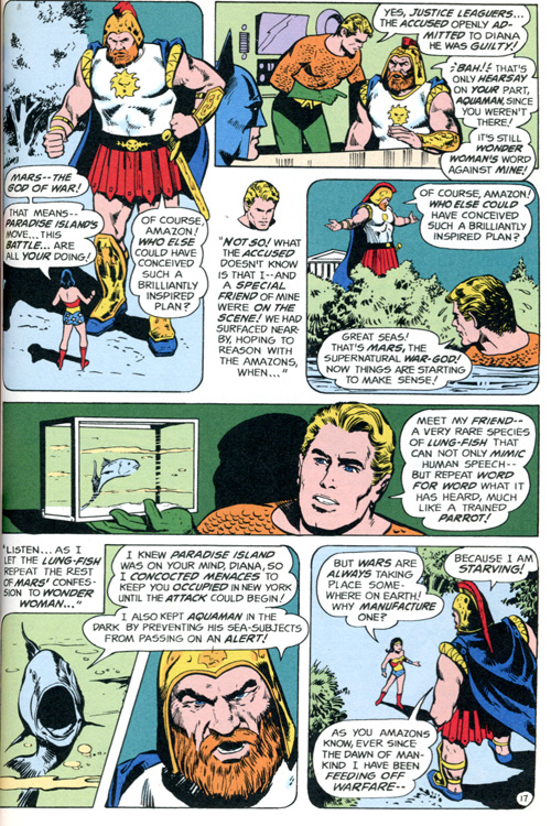 Of course we only have Aquaman's word for it that he didn't coach the fish himself.