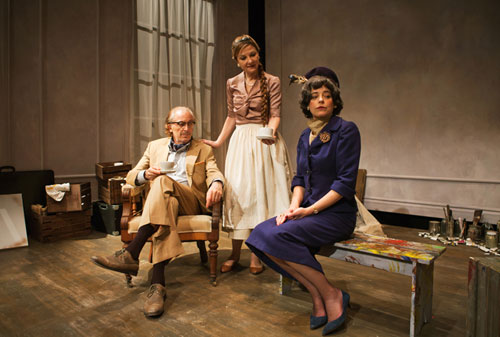 Ronald Guttman, Susi Damilano and Stacy Ross in Bauer. Photo by Jessica Palopoli.