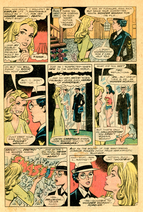 I think it's unlikely that even the 1940s Wonder Woman hasn't encountered hypnotism before, but just go with it.