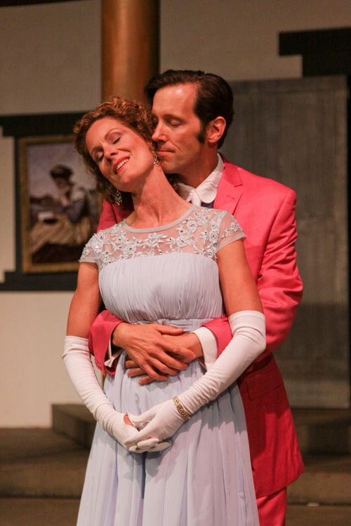 Marcia Pizzo and Nick Sholley in Marin Shakespeare Company's An Ideal Husband. Photo by Eric Chazankin.