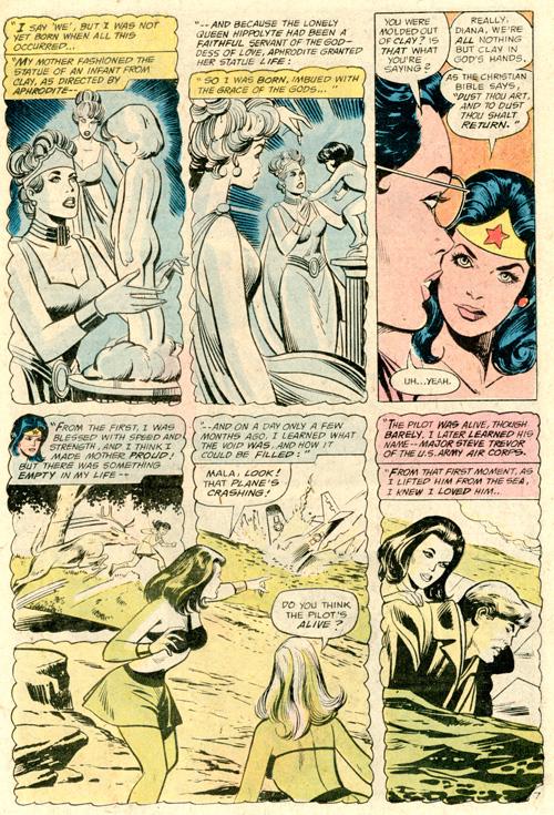 Wonder Woman quoting Christian scripture is just bizarre.
