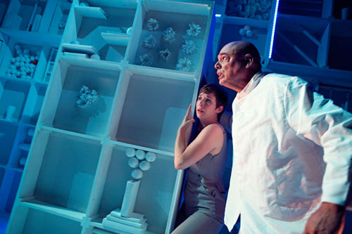 Kathryn Zdan and Michael Anthony Torres in Crowded Fire Theater's The Late Wedding. Photo by Pak Han.