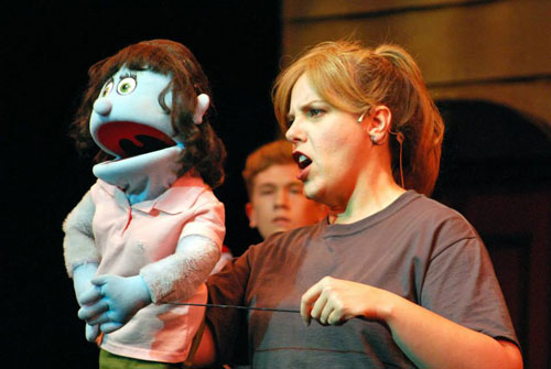 Kate Monster and Jennifer Stark in Avenue Q. Photo by Robert Sholty.