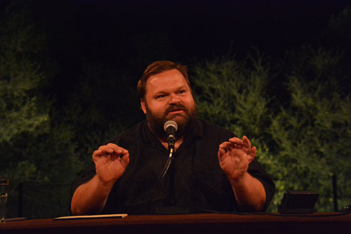 Mike Daisey in The Great Tragedies at California Shakespeare Theater. Photo by Jay Yamada.