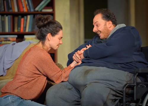 Liz Sklar and Nicholas Pelczar in The Whale at Marin Theatre Company. Photo by Kevin Berne.