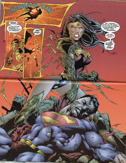 You can never have enough of Wonder Woman beating the crap out of Superman.
