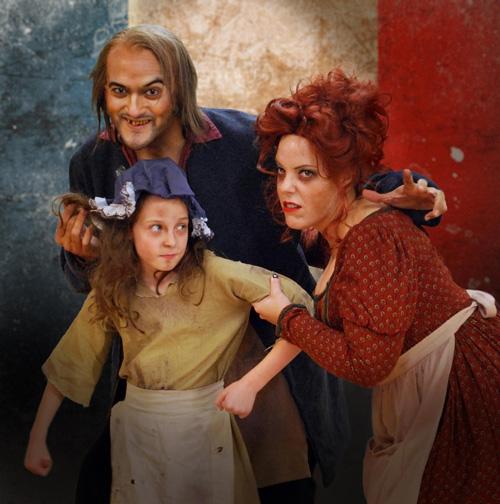 DC Scarpelli, Jennifer Stark and Emily Joy Kessel in Les Misérables. Photo by Robert Sholty.