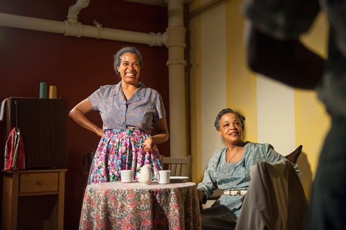 Erica Smith and Cathleen Riddley in AlterTheater's production of The Amen Corner. Photo by David Allen.