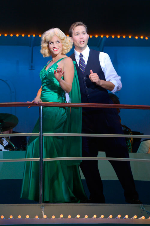 Molly Bell and Joshua Hollister in Center Rep's Anything Goes. Photo by www.kevinberne.com