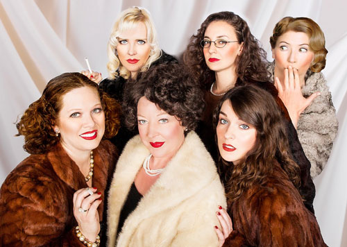 The cast of The Women at Masquers Playhouse.