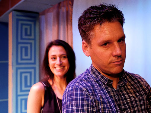Sarah Mitchell and Tim Redmond star in TheatreFIRST's Much Ado About Nothing. Photo by Adam Tolbert.