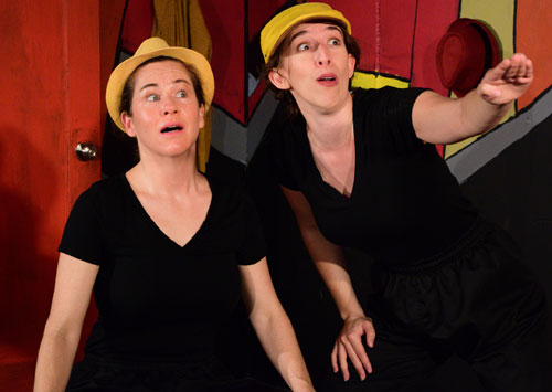Julie Douglas and Maria Giere Marquis in The Comedy of Errors at Impact Theatre. Photo by Claire Ann Rice.