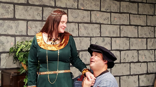 Beth Donovan and Manuel Fernandez in San Leandro Players' Forsooth, My Lovely. Photo by T. Guillory.