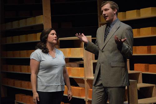 Mylissa Malley and Adam Niemann in Douglas Morrisson Theatre's Book of Days.