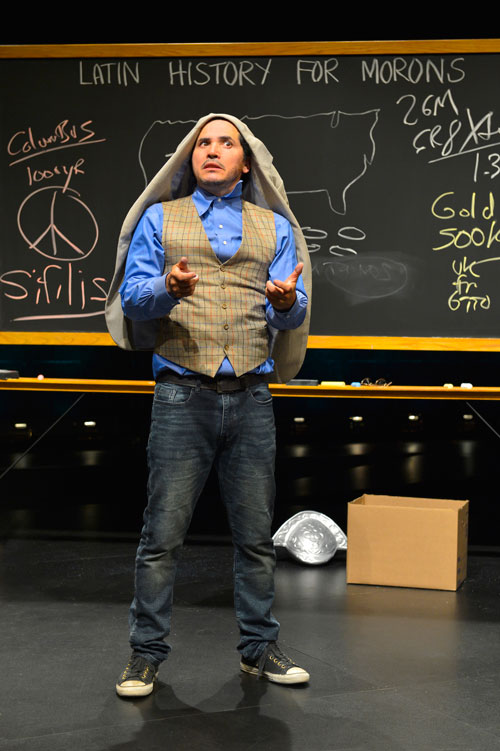 John Leguizamo in the world premiere of Latin History For Morons at Berkeley Rep. Photo courtesy of Kevin Berne/Berkeley Repertory Theatre.