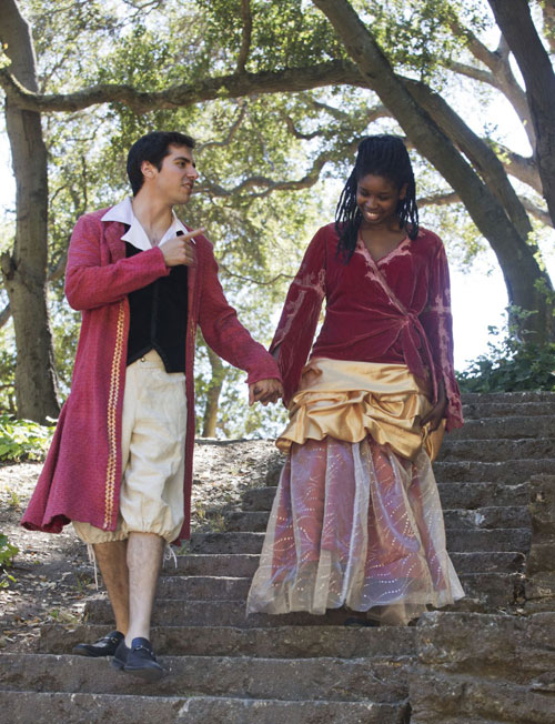 David Andres Mejia and Crystal Brown in Actors Ensemble of Berkeley's The Marriage of Figaro. Photo by Anna Kaminska.