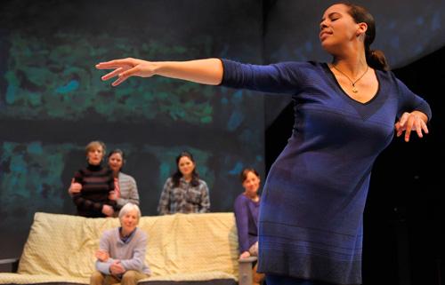 Lauren Spencer in Aurora Theatre Company's 2013 world premiere of Our Practical Heaven. Photo by David Allen.