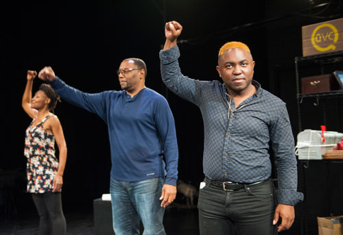 Nkechi Emeruwa, Dorian Lockett, and AeJay Mitchell in AlterTheater's Rose in America. Photo by David Allen.
