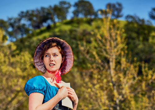 Lily Narbonne in Livermore Shakespeare Festival's Persuasion. Photo by Gregg Le Blanc, CumulusLight.com.