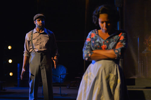 Aldo Billingslea and Margo Hall in California Shakespeare Theater's production of Fences. Photo by Kevin Berne.