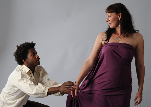 Nican Robinson and Susan-Jane Harrison in Hunting Love. Photo by Eric Gillett.