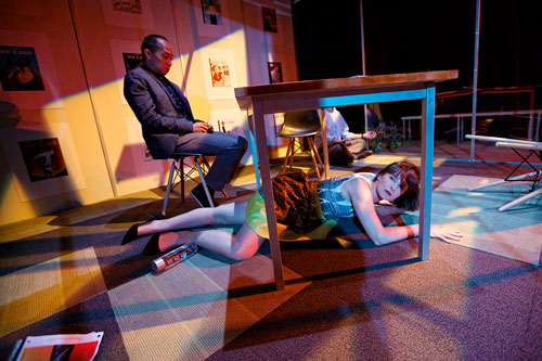 Jomar Tagatac and  Elissa Beth Stebbins in Shotgun Players' Caught. Photo by Pak Han.