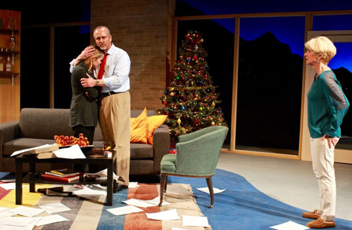 Lauren Tothero, Jeff Kramer and Mary Gibboney in Other Desert Cities at City Lights. Photo by Taylor Sanders.