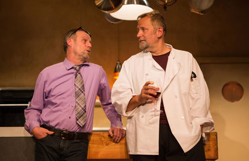 Rod Gnapp and Brian Dykstra in Seared at SF Playhouse. Photo by Jessica Palopoli.