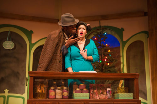 Rodney Earl Jackson Jr. and Nanci Zoppi in She Loves Me at SF Playhouse. Photo by Jessica Palopoli.